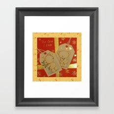 LOVE AT CHRISTMAS Framed Art Print