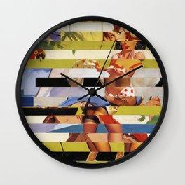 Glitch Pin-Up Redux: Farrah Wall Clock