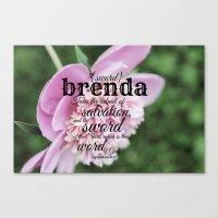scripture Canvas Prints featuring Brenda scripture by KimberosePhotography
