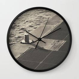 Sea Pier Geometry Wall Clock