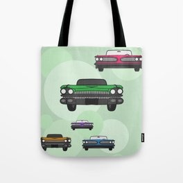 Route 66 colorful cars Tote Bag