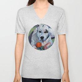 Staffordshire Terrier Dog Portrait Unisex V-Neck