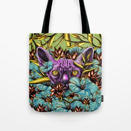 The Sphynx and the Flowers Tote Bag
