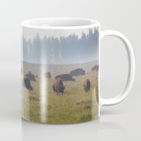 buffalo Mugs featuring Buffalo by Claire Laminen Photo