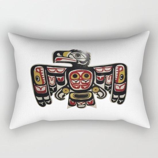 American Native Art Cut In Wood No. 6 Rectangular Pillow