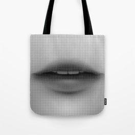 Halftone Lips Tote Bag