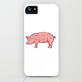 Pork by the Cut iPhone Case