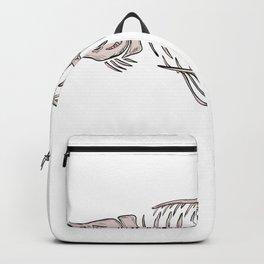 King Salmon Skeleton Drawing Backpack