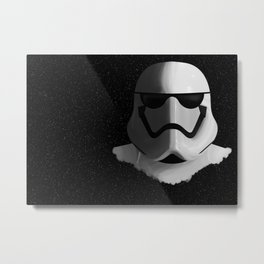 Soldier in the Stars Metal Print