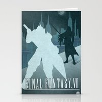 final fantasy Stationery Cards featuring Vector Final Fantasy VII by LoweakGraph