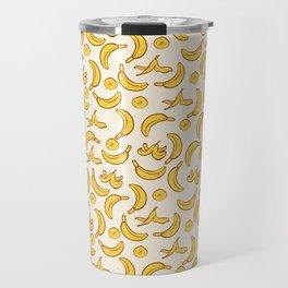 Yellow Banana Pattern Travel Mug