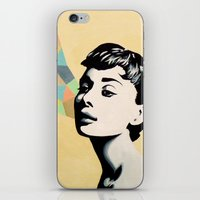 audrey iPhone & iPod Skins featuring Audrey by beeisforbear