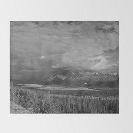 Matanuska Glacier Mono Throw Blanket