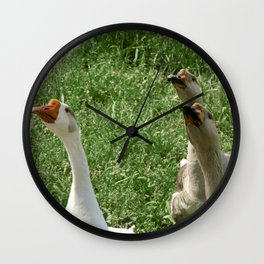 Three Little Peckerheads Wall Clock