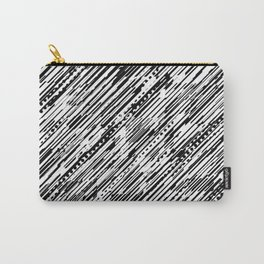 Diagonals B & W Carry-All Pouch