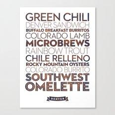 Denver — Delicious City Prints Canvas Print