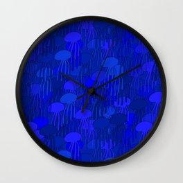 Jellyfish-BLUE Wall Clock