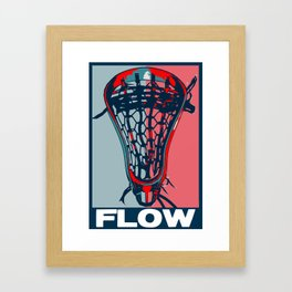 Lacrosse VOTE FLOW Framed Art Print