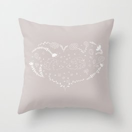Hedgehogs in love Throw Pillow