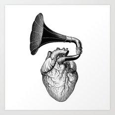 Hearthphone Music / olex oleole Art Print