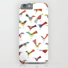 Birds doing bird things iPhone 6 Slim Case