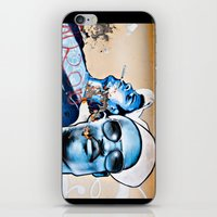 graffiti iPhone & iPod Skins featuring Graffiti  by Christine Fitzgerald Photography