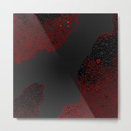 Atomic Bubbles - Red, Black, Drk Gray Metal Print