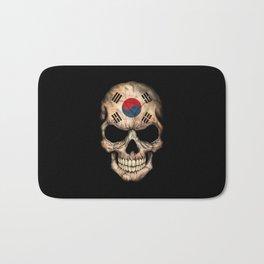 Dark Skull with Flag of South Korea Bath Mat
