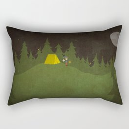 Camping Scene Rectangular Pillow