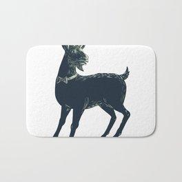 The Goat Wearing Bow Tie Scratchboard Bath Mat