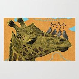 Giraffe & Singing Birds Print Rug