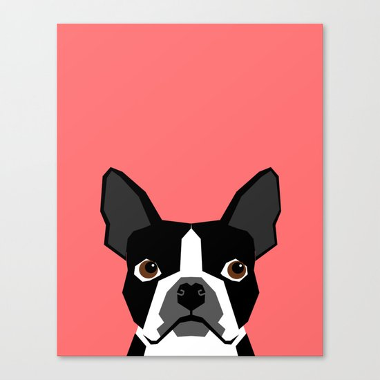Kennedy - Boston Terrier cute dog themed gifts for small dog owners and Boston Terrier gifts  Canvas Print
