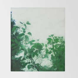 Spring Fresh Rain Throw Blanket