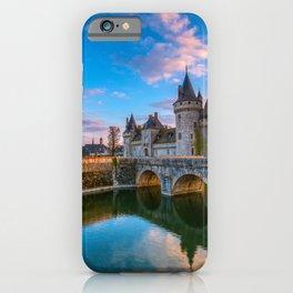 Famous medieval castle Sully sur Loire, Loire valley, France. iPhone Case