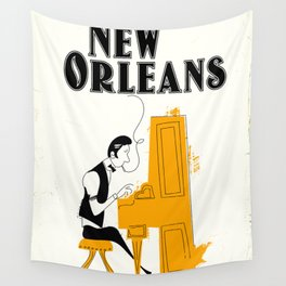 New Orleans honky tonk. Wall Tapestry