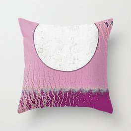 Moon Plays With Tides Throw Pillow