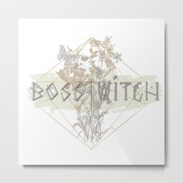 Witchy Puns - Boss Witch Metal Print