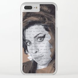 Back to Black Clear iPhone Case