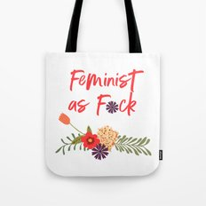 Feminist as F*ck (Censored Version) Tote Bag