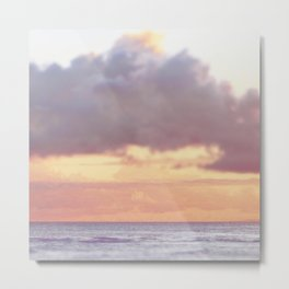 Icarus Clouds Hawaii Sunset Pastel Purple and Pink Metal Print