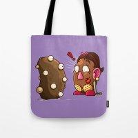 potato Tote Bags featuring Potato Potaato by Artistic Dyslexia