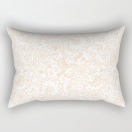 Fly EYES - Patterns ORANGE - flowers, floral Rectangular Pillow