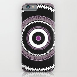 Decorative Pantone Purple Grey Mandala iPhone Case