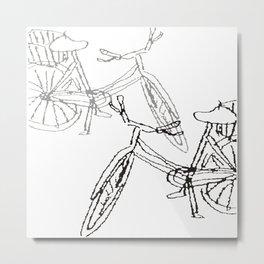 BICYCLE2 Metal Print