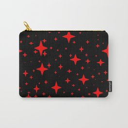 Bright Red Stars in Space , Cristmas Stars Carry-All Pouch