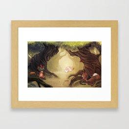 Catching the rabbit Framed Art Print