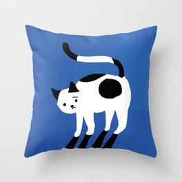 Abstraction_CAT_BLUE Throw Pillow