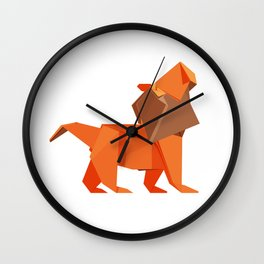 Origami Lion Wall Clock