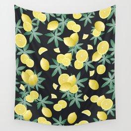 Lemon Twist Vibes #5 #tropical #fruit #decor #art #society6 Wall Tapestry