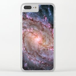 Spiral Galaxy M83 Clear iPhone Case